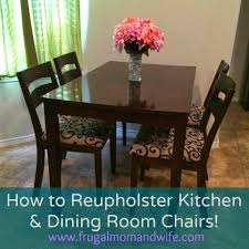 Dining Room Chair Reupholstery Compelling How To Upholster A Back Of A Dining Room Chair Bedroom