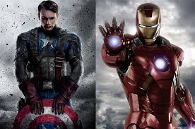 Image result for image of team cap vs team iron man