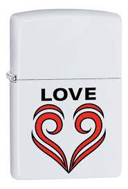 <b>Зажигалка</b> бензиновая <b>214 Love</b> Theme (белая, матовая) от <b>Zippo</b>