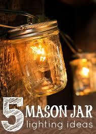 5 mason jar lighting ideas via tipsaholic candle lighting ideas