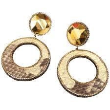 1980 Deanna Hamro Python <b>Hoop Earrings</b> – <b>Vintage</b> by Misty