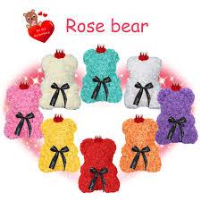 <b>Red Rose Bear Flower</b> Teddy 9 Inch Gifts For Wedding Birthday ...