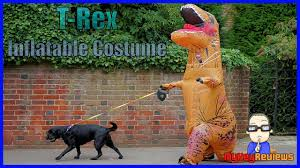 Inflatable <b>T-Rex Dinosaur</b> Costume (<b>Adult</b> Size) | Set-Up & Review ...