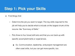 resume  amp  skill building workshop