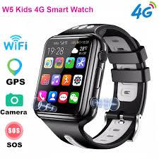 W5 Kids 4G <b>Smart Watch</b> 2MP Camera HD Video Voice Call SOS ...