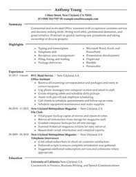 office assistant resume example office administration sample resume