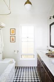 embellished tile floor bathroom