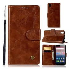 <b>Flip Cases</b> Electronics 3 <b>Card Slots</b> Premium Oil Wax PU Leather ...