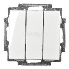 <b>Выключатель</b> 3-клав <b>Basic 55</b> 16А Альпийский белый <b>ABB</b> 1012-0 ...