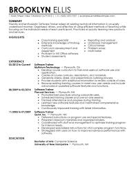 it resume examples information technology resumes livecareer software training resume sample