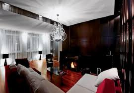 apartment cozy bedroom design: elegant living room design in cosy apartment ideas with warm interior design for a young family