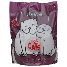 Силикагелевый <b>наполнитель For Cats</b> с ароматом лаванды, 8 л ...