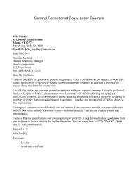 cover letter 42 receptionist cover letter examples resume cover general receptionist cover letter example samples general cover letter for resume covering letter