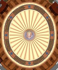 digital rendering of president bushs oval office rug bill clinton oval office rug