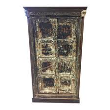 mogul interior consigned antique rustic cabinet teak doors distressed furniture spanish style accent apothecary style furniture patio mediterranean