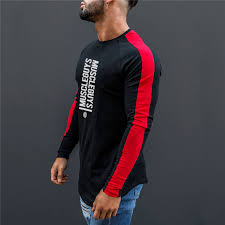 Super Sale #2ab0 - Muscleguys Autumn <b>Mens</b> Cotton Gyms <b>Men</b> T ...