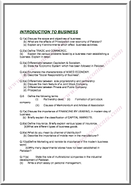 b com introduction to business important questions 8 9