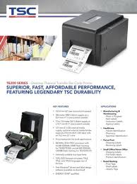 <b>Tsc</b> Barcode Printer <b>Te210</b>, Ribbon Capacity: 300mtr, Max. Print ...