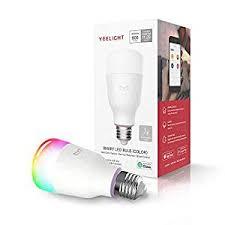 <b>YEELIGHT Smart LED</b> Bulb, Multi Color <b>Rgb</b>, Wi-Fi, Dimmable, 60W ...