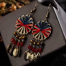 vintage boho deangle earrings geometric