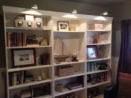bookcases ikea and lights on pinterest bookcase lighting ideas