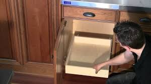 Kitchen Cabinet Slide Out Install Roll Out Shelf To Base Cabinet Deck Youtube