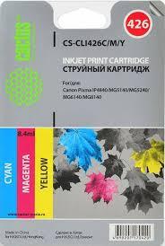 Комплект <b>картриджей Cactus CS</b>-<b>CLI426C</b>/<b>M</b>/<b>Y</b>, голубой ...