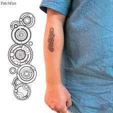 <b>2pcs</b>/<b>set Patchfan</b> TV show Annual ring diy Cool Temporary Body Art ...