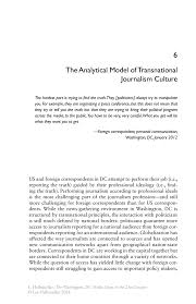 the analytical model of transnational journalism culture springer inside