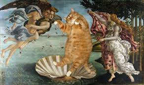 Classic pieces of fine art 'improved' with addition of cats ... via Relatably.com