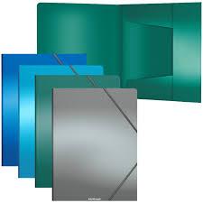 "<b>Папка</b> на резинке <b>Erich Krause</b> ""<b>Metallic</b>"" <b>А4</b>, 600мкм, ассорти (арт ..."