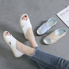 Women Shoes Korean <b>Summer</b> Sandal Fashion Retro <b>Flat</b> ...