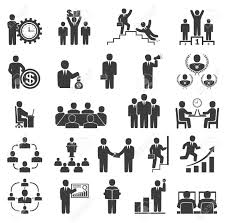 business people in work office icons conference computer work business people in work office icons conference computer work team working