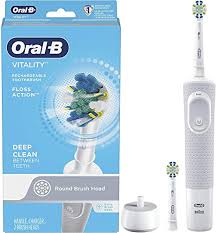 <b>Oral-B</b> Vitality FlossAction <b>Electric</b> Rechargeable <b>Toothbrush with 2</b> ...