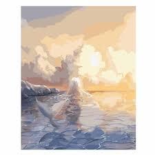 <b>WONZOM</b> Mermaid <b>Painting</b> By Numbers Girl With Whale Oil ...
