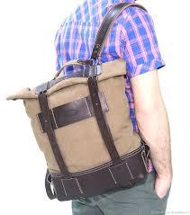 Мужской <b>рюкзак</b> из кожи и канваса ручной работы. Handmade ...