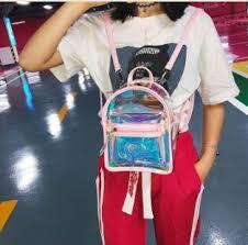<b>New Summer</b> Travel Waterproof <b>Jelly</b> Backpack Transparent <b>Jelly</b> ...