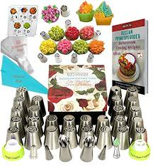 Russian Piping Tips Set DELUXE Frosting Tips 33 ... - Amazon.com