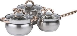 Набор посуды <b>Pomi d'Oro</b> Levita PSS-640003-3, серебристый, 6 ...