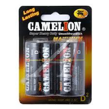 CR20бл <b>Батарейка D</b> R20 1.5V блистер (2шт.) Saline <b>CAMELION</b> ...
