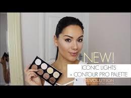 new <b>makeup revolution iconic</b> lights and contour pro palette
