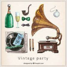 Free Vector   <b>Hand painted vintage</b> party elements