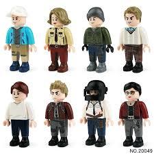 Buy <b>8 Pcs</b> Children Cartoon Doll <b>Action</b> Figures Building <b>Blocks</b> ...