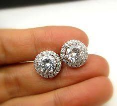 Arrows cut Top Quality 0.75 carat AAA CZ Stone <b>Stud Earrings</b> for ...