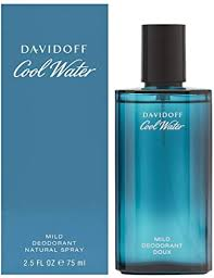 <b>Davidoff Cool Water</b> Mild Deodorant Natural Spray, 75ml: Amazon ...