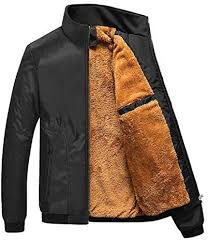 Inlefen Men's Standing Collar Zipped <b>Winter Thicken Warm</b> Jacket ...