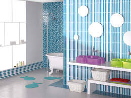 cute kids bathroom ideas decor pink bathroom  fashioned bathroom for children girls stripes white blue wal