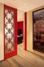 doors with design avant garde harbor home example of a trendy home office design with ceiling avant garde