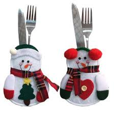 household dining table set christmas snowman knife: hot  pcs set christmas decoration santa little snowman silverware gifts dining table knife fork restaurant decoration tableware bags