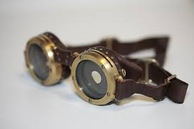 <b>Steampunk Goggles</b> - Titanium Photochromatic Variable-Aperature ...